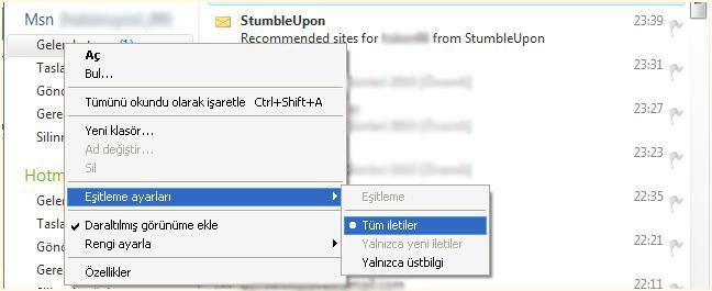 Mailleri bilgisayara yedeklemek