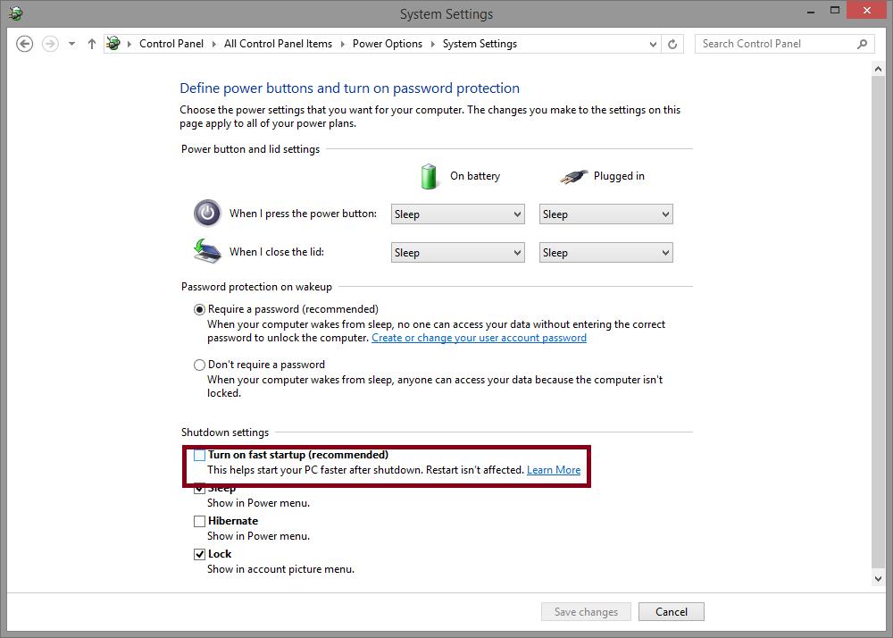 Ubuntu hard drive mount problem due to Windows 8 and 8 1